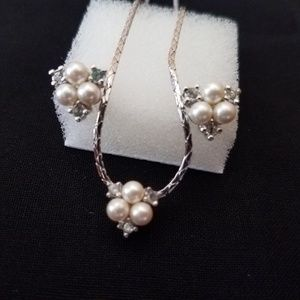 Dainty Dior Necklace with Earrings